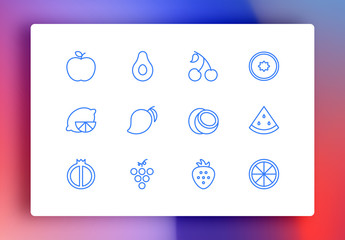 Fruits Minimalist Icons
