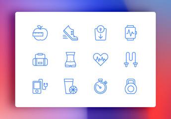 Fitness Minimalist Icons