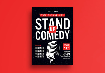 Stand-Up Comedy Flyer Layout