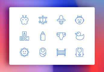 Baby Minimalist Icons