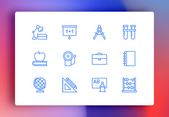 Education Minimalist Icons