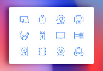 Computers Minimalist Icons