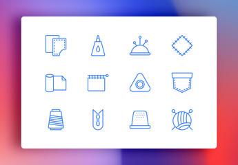 Handcrafts Minimalist Icons