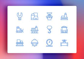 Industry Minimalist Icons