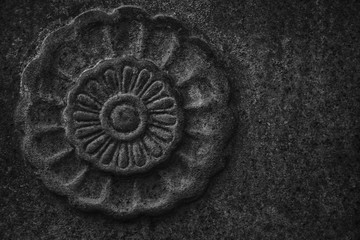 Acrylic Prints Monochrome Ornate stone texture, circle rock shape, background for web site or mobile devices
