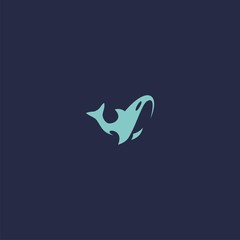 logo fish abstract