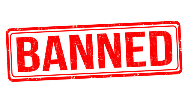 Banned grunge rubber stamp