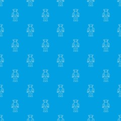 Custom blinds with your photo Humanoid robot pattern vector seamless blue repeat for any use