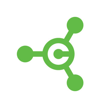 Green Letter C Hub Logo or Icon