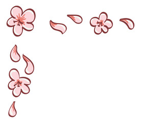 Cherry Blossom Top Left Border