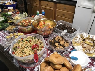 Potluck Meal Salads and Desserts