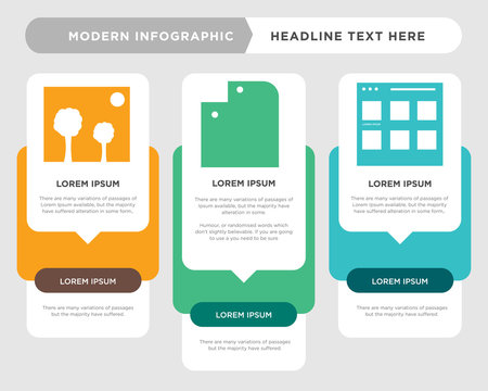 Browser, Folder, Picture infographic