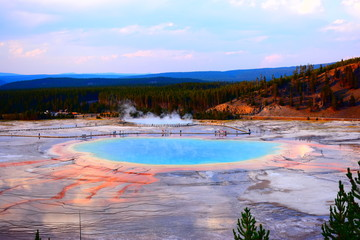 Grand Prismatic Hot Spring, Yellowstone National Park, Beautiful Landscape, Inspirational Views, Scenery, Hot Spring, Nature