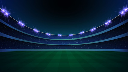 stadium with illumination,