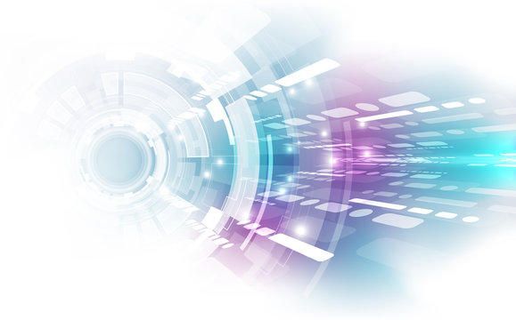 Abstract vector super high speed digital technology concept. background illustration