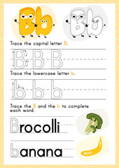 Alphabet Tracing Worksheet: Writing A-Z.Exercises for kids. A4 paper ready to print.