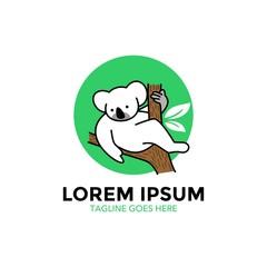 koala character mascot logo