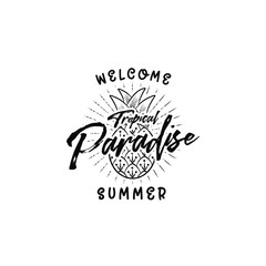 welcome summer paradise
