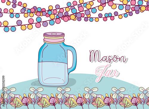 Mason Jar Party Drawing Stock Image And Royalty Free Vector Files