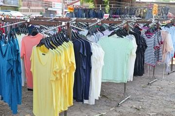 Shop T-shirt at street