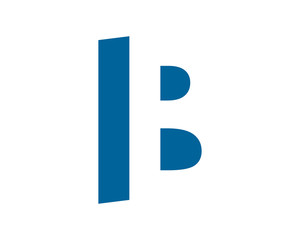 blue initial typography typeset logotype alphabet font image vector icon logo symbol