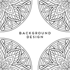 Vector mandala background