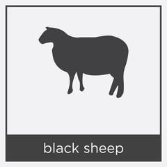 black sheep icon isolated on white background