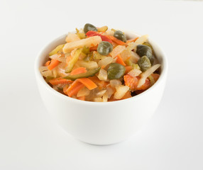 Chopped Pickled Vegetables Isolated