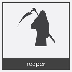 reaper icon isolated on white background