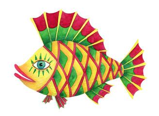 watercolor bright perch