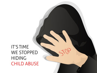 creative abstract or poster for Stop Child Abuse with creative design illustration.