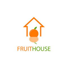 Fruit House Vector Template Design Illustration