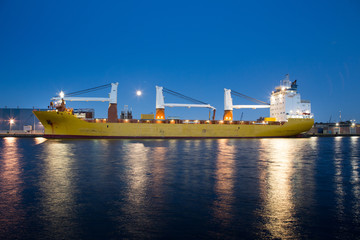Containership in the Amsterdam Coenhaven
