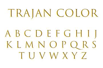 Gold trajan color font