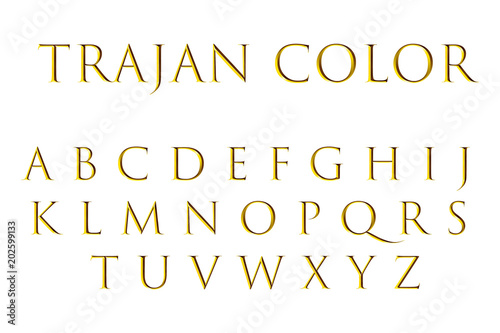 Gold Color Font Free Download