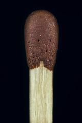 Macro wooden match