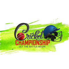 nice and beautiful abstract or poster for Cricket Championship with creative design illustration.