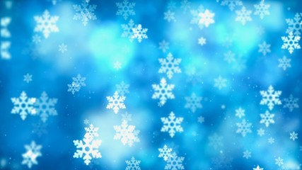 Christmas background with nice falling snowflakes