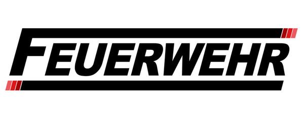 Feuerwehr Schriftzug Logo