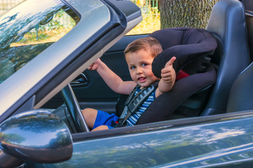 Child in a car child seat
