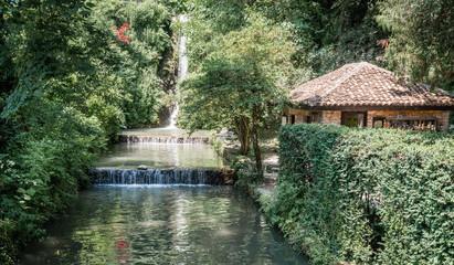 Waterfall in a garden