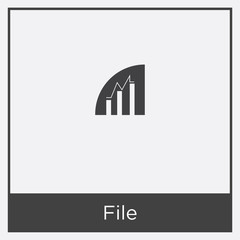 File icon isolated on white background