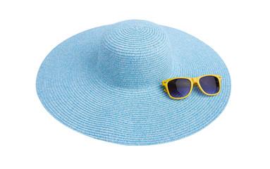Sunglasses on a sea hat.