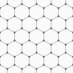 Vector seamless pattern of hexagons with rounded corners.
