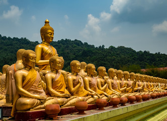 Buddha statue at Nakhon Nayok Thailand.