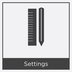 Settings icon isolated on white background