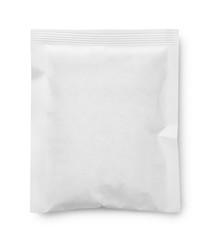 White blank paper sachet