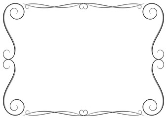 Cute decorative frame. Vector illustration.