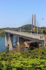 鷹島から見る鷹島肥前大橋