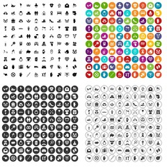 100 love icons set vector in 4 variant for any web design isolated on white